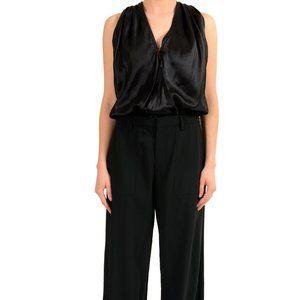 Maison Margiela Women's Wool Black Halter Jumpsuit